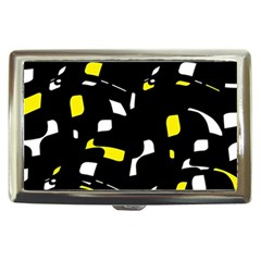 Yellow, black and white pattern Cigarette Money Cases