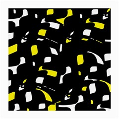 Yellow, black and white pattern Medium Glasses Cloth