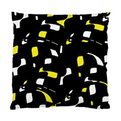 Yellow, black and white pattern Standard Cushion Case (Two Sides)