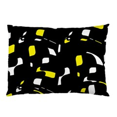Yellow, black and white pattern Pillow Case