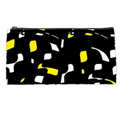 Yellow, black and white pattern Pencil Cases