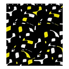 Yellow, black and white pattern Shower Curtain 66  x 72  (Large)