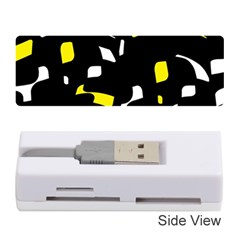 Yellow, black and white pattern Memory Card Reader (Stick)