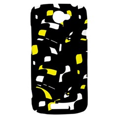 Yellow, black and white pattern HTC One S Hardshell Case