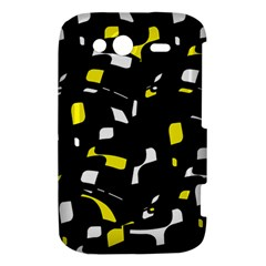 Yellow, black and white pattern HTC Wildfire S A510e Hardshell Case