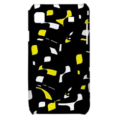 Yellow, black and white pattern Samsung Galaxy S i9000 Hardshell Case