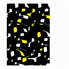 Yellow, black and white pattern Small Garden Flag (Two Sides)