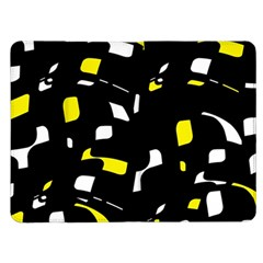 Yellow, black and white pattern Kindle Fire (1st Gen) Flip Case