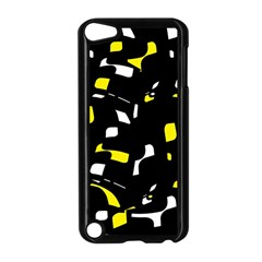 Yellow, black and white pattern Apple iPod Touch 5 Case (Black)