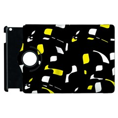 Yellow, black and white pattern Apple iPad 2 Flip 360 Case