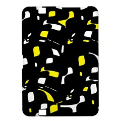 Yellow, black and white pattern Kindle Fire HD 8.9