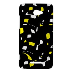 Yellow, black and white pattern HTC Butterfly X920E Hardshell Case