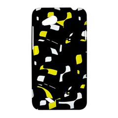 Yellow, black and white pattern HTC Desire VC (T328D) Hardshell Case