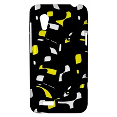 Yellow, black and white pattern HTC Desire VT (T328T) Hardshell Case