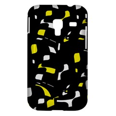 Yellow, black and white pattern Samsung Galaxy Ace Plus S7500 Hardshell Case