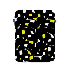 Yellow, black and white pattern Apple iPad 2/3/4 Protective Soft Cases