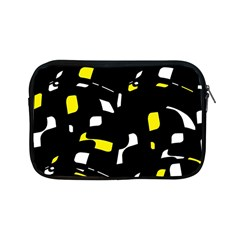 Yellow, Black And White Pattern Apple Ipad Mini Zipper Cases