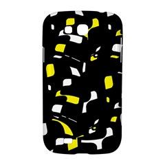 Yellow, black and white pattern Samsung Galaxy Grand GT-I9128 Hardshell Case