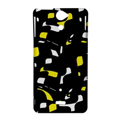Yellow, black and white pattern Sony Xperia V