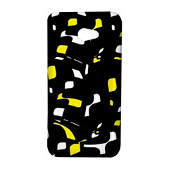 Yellow, black and white pattern HTC Butterfly S/HTC 9060 Hardshell Case