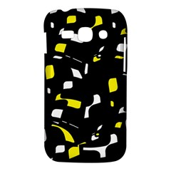 Yellow, black and white pattern Samsung Galaxy Ace 3 S7272 Hardshell Case