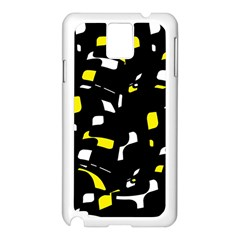 Yellow, black and white pattern Samsung Galaxy Note 3 N9005 Case (White)