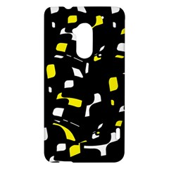 Yellow, black and white pattern HTC One Max (T6) Hardshell Case
