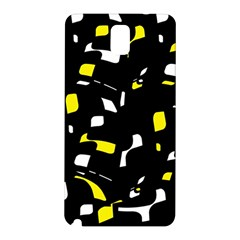 Yellow, black and white pattern Samsung Galaxy Note 3 N9005 Hardshell Back Case