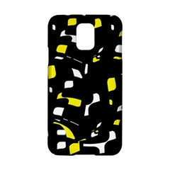 Yellow, black and white pattern Samsung Galaxy S5 Hardshell Case