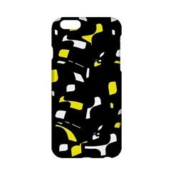 Yellow, black and white pattern Apple iPhone 6/6S Hardshell Case
