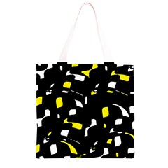 Yellow, black and white pattern Grocery Light Tote Bag
