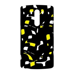 Yellow, black and white pattern LG G3 Back Case