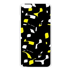 Yellow, black and white pattern Apple Seamless iPhone 6 Plus/6S Plus Case (Transparent)