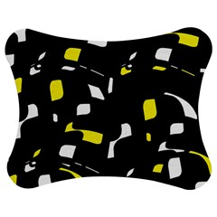Yellow, black and white pattern Jigsaw Puzzle Photo Stand (Bow)