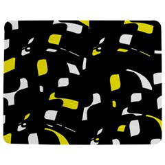 Yellow, black and white pattern Jigsaw Puzzle Photo Stand (Rectangular)