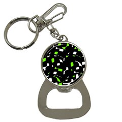 Green, black and white pattern Bottle Opener Key Chains