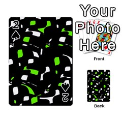 Green, black and white pattern Playing Cards 54 Designs