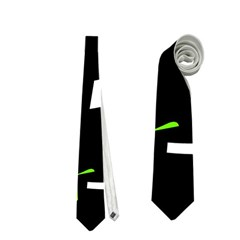Green, black and white pattern Neckties (One Side)