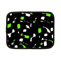 Green, black and white pattern Netbook Case (Small)