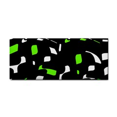 Green, black and white pattern Hand Towel