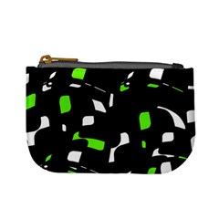 Green, black and white pattern Mini Coin Purses