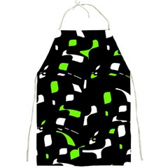 Green, black and white pattern Full Print Aprons