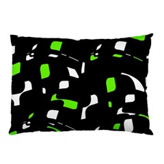 Green, black and white pattern Pillow Case (Two Sides)