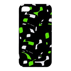 Green, black and white pattern Apple iPhone 4/4S Hardshell Case