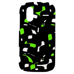 Green, black and white pattern HTC Amaze 4G Hardshell Case