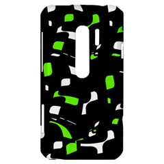 Green, black and white pattern HTC Evo 3D Hardshell Case