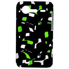 Green, black and white pattern HTC Incredible S Hardshell Case