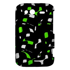 Green, black and white pattern HTC Wildfire S A510e Hardshell Case