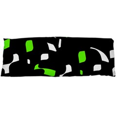 Green, black and white pattern Body Pillow Case (Dakimakura)