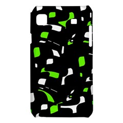 Green, black and white pattern Samsung Galaxy S i9008 Hardshell Case